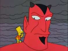 """Destroy the school"". Bart vs Devil.  Bart has quite the influence."