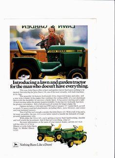1983 John Deere models 318 and 420