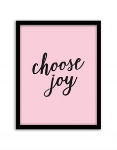 Free Printable Choose Joy Wall Art from @chicfetti #freeprintable