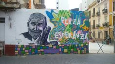 Arte urbano en Plaza de la Esperanza - Lagunillas, Málaga
