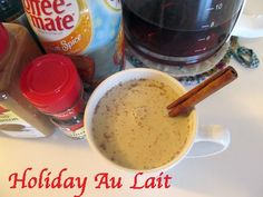 Easy Holiday Au Lait recipe with #pumpkin or #gingerbread creamer. Fall flavors without coffee shop prices from #Walmart Mom Lynnae.