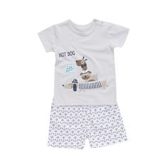 Gray Hot Dog Outfit (2pc Set), 54.2% discount @ PatPat Mom Baby Shopping App
