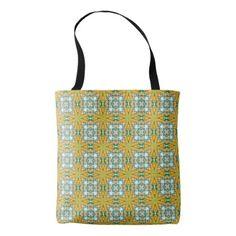#women - #Acrylic Monoprint Tiled Repeat Pattern Tote Bag