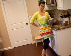 DIY ruffle apron