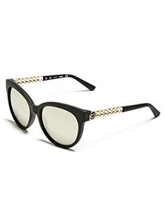 64528069f GUESS Womens Round ChainTrim Logo Sunglasses *** More info could be found  at the image url.