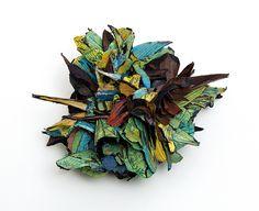 Terra Mutantica by Attai Chen. -- Attai Chen Brooch: Untitled, 2014 Cardboard, paper, shibuichi 13 x 14 x 6.5 cm Photo by: Attai Chen