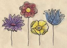 Painted Flowers | Urban Threads: Unique and Awesome Embroidery Designs