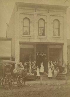 1895 W.C. Rouse Meat Market 116 West Bridge St. Beloit Wisconsin.