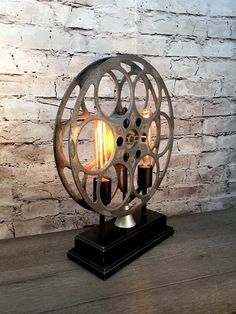 Accent Table Lamp Vintage Film Reel Vintage Cinema Accent Table Lamp On a recent trip to northern California I visited a small town that had just hosted a film festival. Inspired by the decor in the shops and along the streets, I returned to my studio her