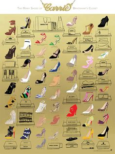 The Many Shoes of Carrie Bradshaw's Closet