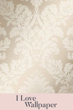 This gorgeous new paper features a beautiful pewter background, brought alive by the metallic highlighted damask artwork and finished with a delicate coating of glitter, providing a luxurious, welcoming and fresh feel to any living area in your home. Gold Damask Wallpaper, Love Wallpaper, Living Area, Pewter, Metallic, Delicate, Glitter, Romantic, London