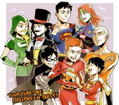 Young Justice Halloween