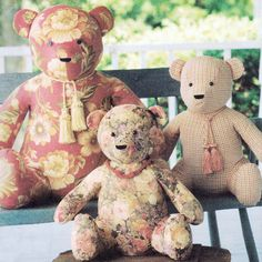 Vintage 2000 Sitting Teddy Bears! Simplicity Home Sewing Pattern 9444, Elaine Heigl Designs, UNCUT with FACTORY FOLDS by karl79 on Etsy