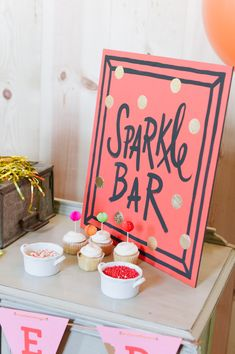Sparkle Bar for decorating cupcakes // photo by MattandJulieWeddings.com // styling by CoutureEventsByLottie.com