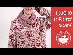 Cómo hacer un cuello infinity scarf - YouTube