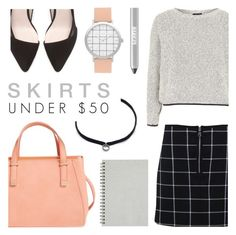 """Skirts Under 50"" by c-silla ❤ liked on Polyvore featuring Emperia, DANNIJO, Zara, Miss Selfridge, Topshop and Ardency Inn"