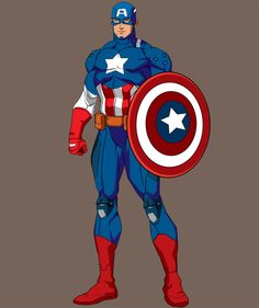 Captain-America by dahsar on DeviantArt Chibi Marvel, Marvel Comics Art, Marvel Heroes, Captain America Pictures, Captain America Movie, Comic Book Characters, Marvel Characters, Capitan America Marvel, Captain Rogers
