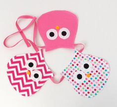 Another cute banner. Owl Fabric, Fabric Bunting, Polka Dot Fabric, Pink Polka Dots, Owl Banner, Bunting Banner, Cute Banners, Pennant Banners, Owl Nursery