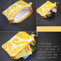 ELM STREET LIFE: DIY Keychain Wallet: Sewing Tutorial