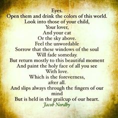 Open your eyes ...