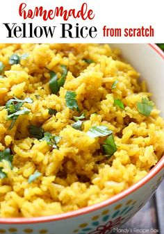Yellow Rice is so easy to make and tastes delicious. It's the perfect side or great in burritos as well.