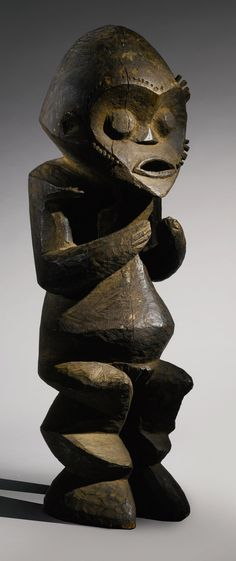 Africa | Female ancestor figure from the Mambila people of Cameroon | wood | ca. mid 20th century