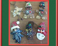 Steampunk Christmas Ornaments Set