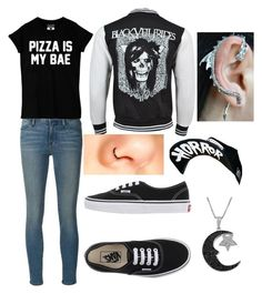 """""""chill"""" by unicornsparklepoop ❤ liked on Polyvore featuring Frame Denim, Vans, Suicidal Tendencies and Jewel Exclusive"""
