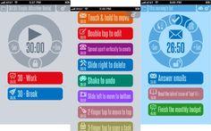 Usa 30/30 en iOS, un temporizador flexible y atractivo para gestionar el tiempo que destinas a tus tareas | Mutatika