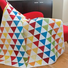 GO! Majestic Pyramids Quilt Pattern #accuquilt #triangle #equilateraltriangle