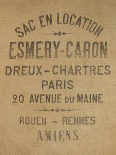 French PARIS BURLAP GRAIN Sack or flour bag by BurlapGrainSacks for my Christmas tree skirt