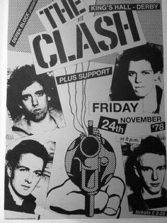 The Clash at the Kings Hall, Derby, November 1978.