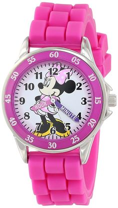 Disney Kids' MN1157 Minnie Mouse Pink Watch with Rubber Band #Disney