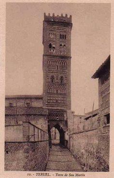 Teruel años 30 del siglo XX. Torre de San Martín. Aragón Roman Empire, Big Ben, Past, Spanish, How To Plan, Buildings, Travel, 3d, Image