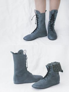 Impulse in Green II  Handmade Leather Boots  by TheDrifterLeather, €113.40