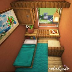minecraft ideas to build cool things Easy Minecraft Houses, Minecraft Houses Blueprints, Minecraft Room, Minecraft Plans, Minecraft House Designs, Minecraft Decorations, Amazing Minecraft, Minecraft Crafts, Minecraft Furniture