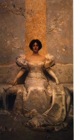 ▴ Artistic Accessories ▴ clothes, jewelry, hats in art - Giacomo Grosso, La femme, 1895