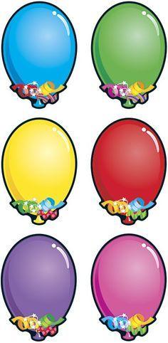 Classroom Birthday, Classroom Board, Classroom Decor, Classroom Labels, School Border, Diy And Crafts, Crafts For Kids, Balloon Clipart, Birthday Clips
