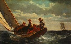 Winslow Homer Breezing Up painting for sale - Winslow Homer Breezing Up is handmade art reproduction; You can shop Winslow Homer Breezing Up painting on canvas or frame. Frank Stella, National Gallery Of Art, Art Gallery, National Art, Online Gallery, Georges Braque, Georges Seurat, Most Famous Paintings, Famous Artists