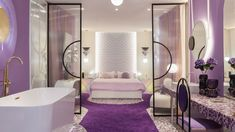 Boutique Hotel Violet Bliss - In Out Studio Metal Lattice, Unusual Hotels, Indirect Lighting, Hotel Suites, Small Tables, Light Decorations, Bliss, Duvet Covers, Studio
