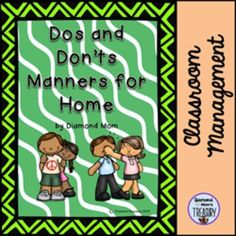 This is a set of 17 different posters that have statements that the children can recite. They help to encourage positive behaviors and good manners.There are multiple images for 4 of the poster sayings.Here are some of my other classroom management products.What Does It Mean to Own SomethingActive Classroom GamesClassroom Manners Dos and Donts PostersClassroom Routines Check out all my Classroom management products here.Thank You for your purchase of this product.