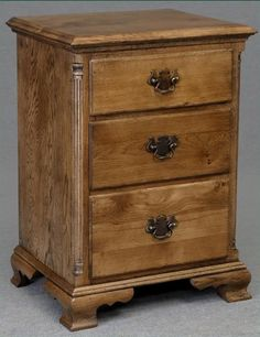 solid oak pair of bedside cabinets