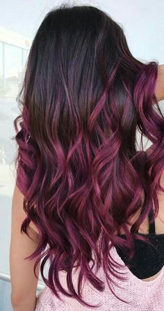 Image Result For Chocolate Raspberry Ombre Hair Hair Color For Black Hair Balayage Hair Cool Hair Color