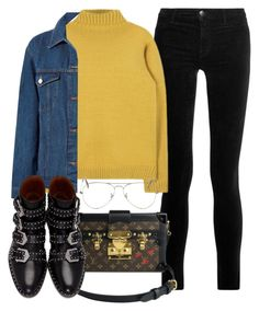 """""""Untitled #3996"""" by camilae97 ❤ liked on Polyvore featuring J Brand, Louis Vuitton, Sans Souci, Givenchy and Ray-Ban"""