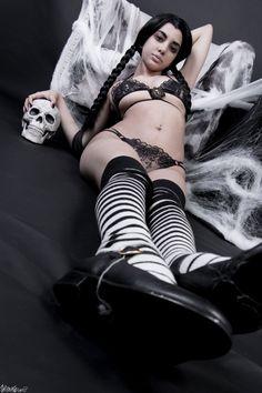 Sexy succubus cosplay hot girls wallpaper