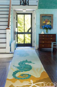 Vanity Fair style chronicler and social fixture Amy Fine Collins' weekend home is a century-old house on Fishers Island, New York, that overlooks a pond where her family swims and sails. Click through for more inspiring summer houses and summer home decor ideas.