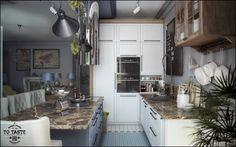 Kolonialna kuchnia, nowoczesna kuchnia. Zobacz więcej na: https://www.homify.pl/katalogi-inspiracji/50718/kuchnia-nowoczesna-na-10-sposobow