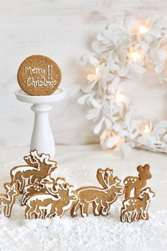 charming Christmas cookie animals