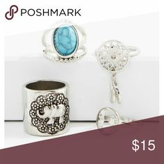 4 piece ring set 4 piece ring set. Size 6 Accessories