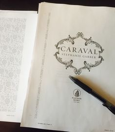 First pass title page of Caraval